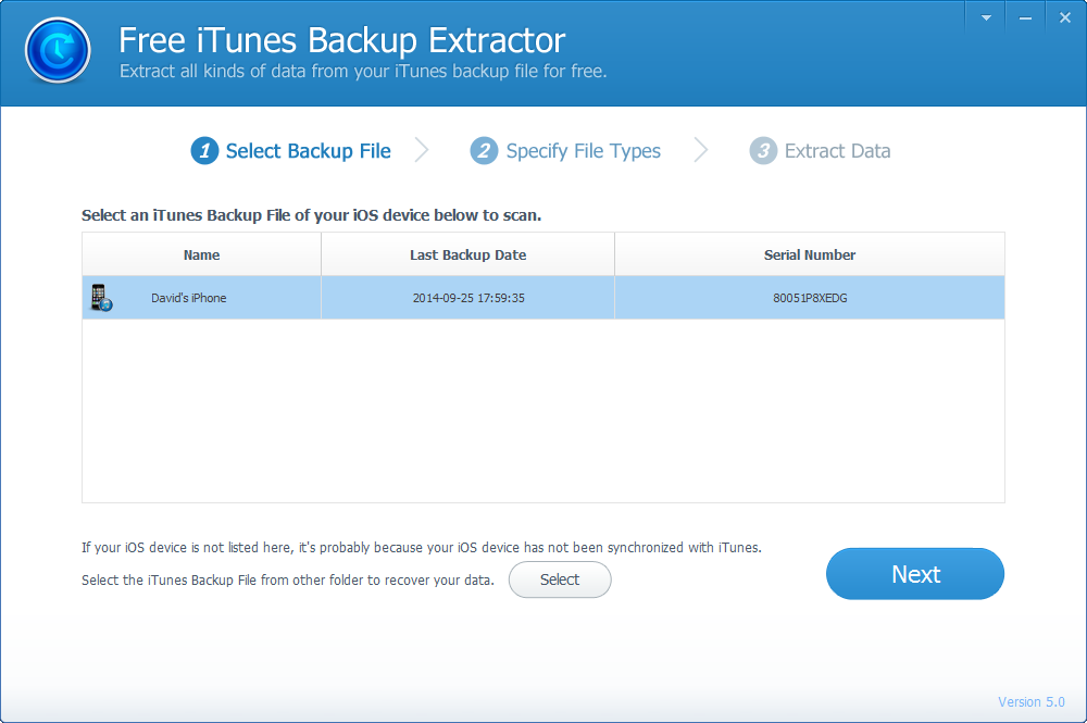 iTunes Backup Extractor for iPhone/iPad/iPod