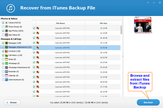 How to Browse and Extract Files from iPhone Backup