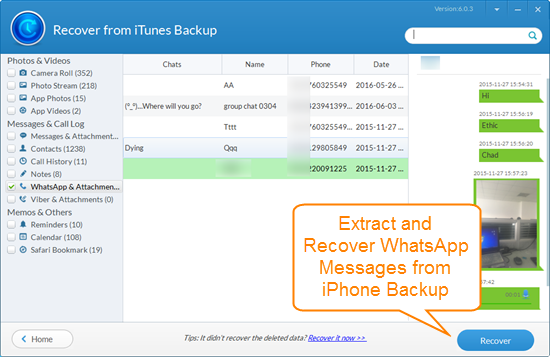 Top 4 Free Tools to Extract WhatsApp Messages from iPhone Backup