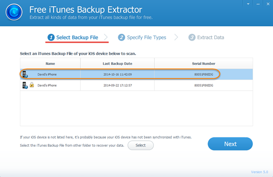 Browse and Extract Files from iPhone Backup