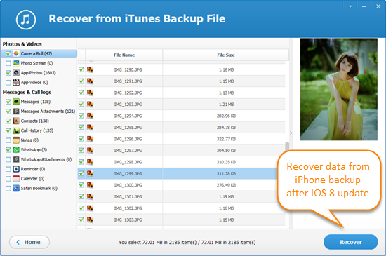 How to Recover Data from iPhone Backup after iOS 8 Update
