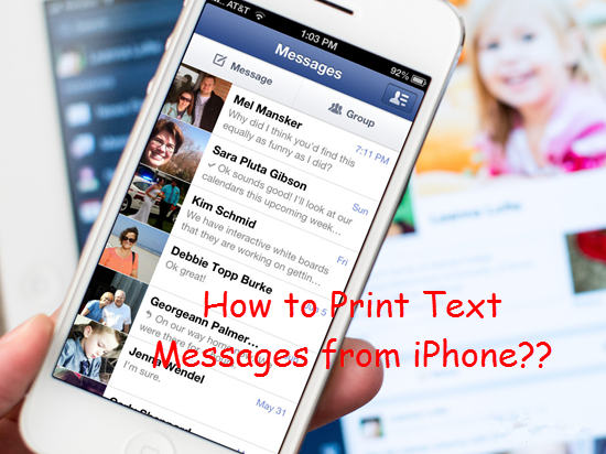 How To Print Text Messages From Iphone  Plus