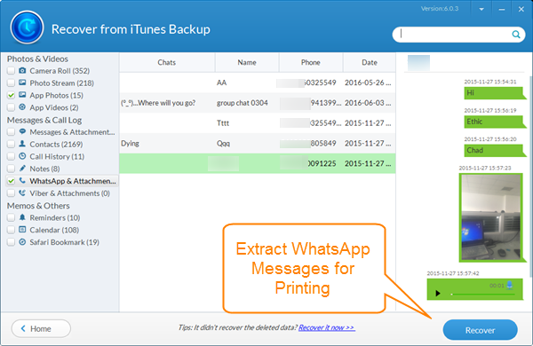 Free Amp Simple Ways To Print Whatsapp Messages On Iphone