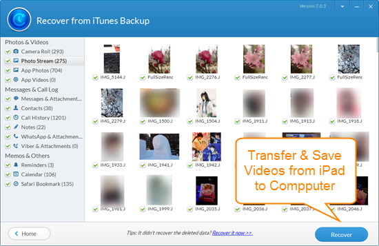 Transfer Videos from iPhone to PC with iTunes