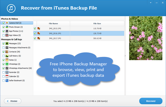 Free iTunes Backup Manager for iPhone, iPad & iPod Touch