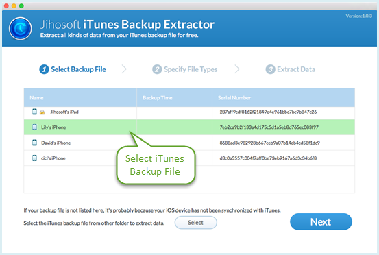 recover data with iPhone backup extractor mac