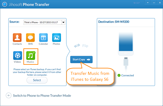 Method 1: Use iTunes to Galaxy Transfer Tool