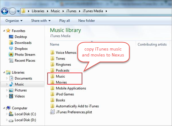 Transfer DRM Free Music from iTunes to Nexus