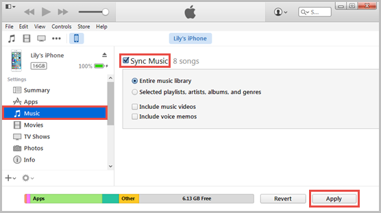 How to transfer music from itunes library to iphone without syncing