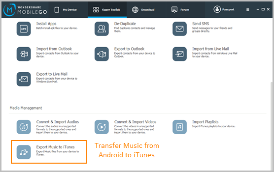 How to Transfer Music and Playlists from Android to iTunes