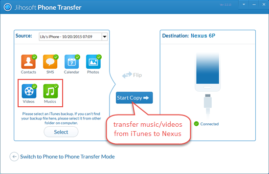 Transfer DRM Protected Music from iTunes to Nexus