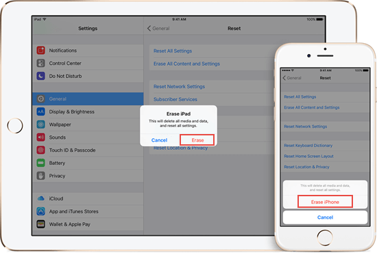 How to Erase iPhone without Apple ID passcode and Computer