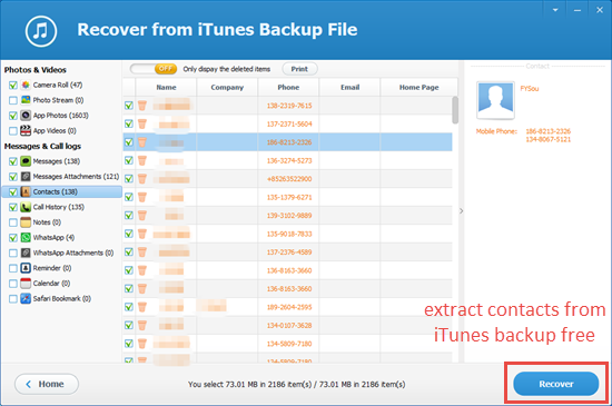 Use iPhone Backup Extractor Freeware
