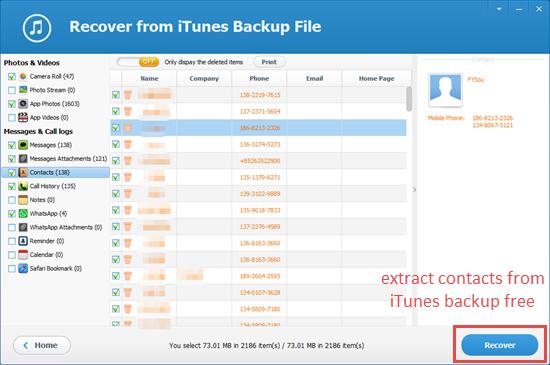 Use iPhone Backup Extractor Freeware
