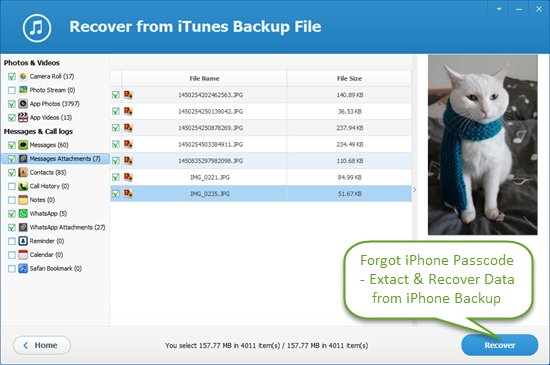 Recover Data from Passcode Locked iPhone or iPad