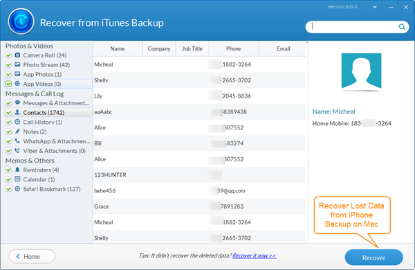 Free iPhone Backup Extractor Mac – Recover Lost iPhone Data on Mac