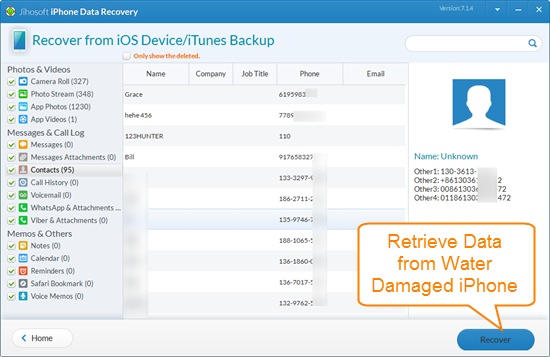 Recover Photos, Videos, Contacts, etc. from Water Damaged iPhone without Backup