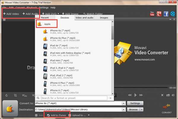 Convert Video and Music Format with Movavi Video Converter