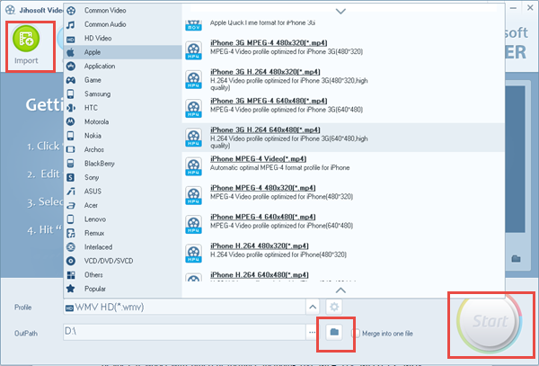Convert Video Format with Jihosoft Video Converter