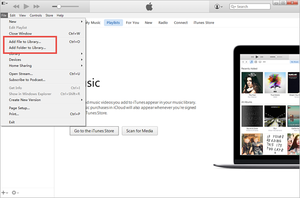 Steps to Import Movies and Audios to iTunes