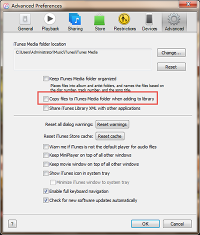 Prevent Duplicates in iTunes when Importing