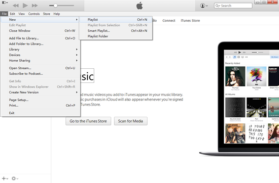 Create iTunes new Library