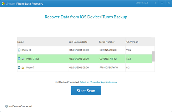 Recover Data from Water Damaged iPhone with iTunes Backup