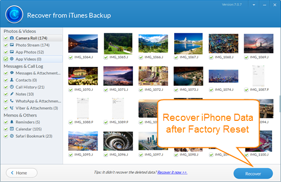 Recover iPhone Data After Factory Restore with iTunes Backup