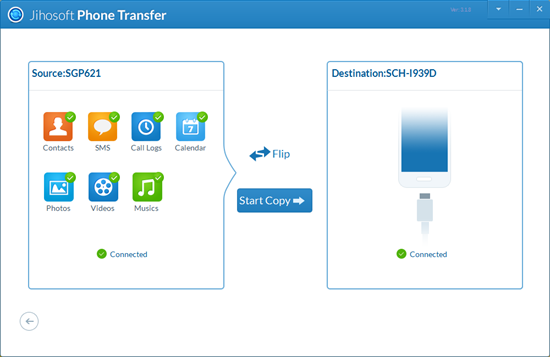 Transfer Contacts, SMS, Photos from Sony to Samsung Using Phone Transfer