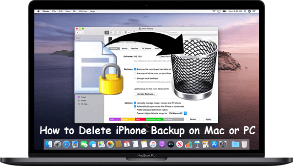 Delete iPhone/iTunes Backup on Your Mac