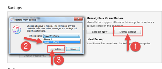 Traditional Way to Recover Videos from iPhone Backup