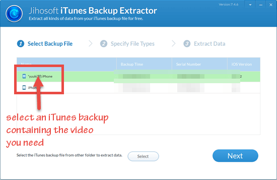How to Extract Videos from iTunes Backup