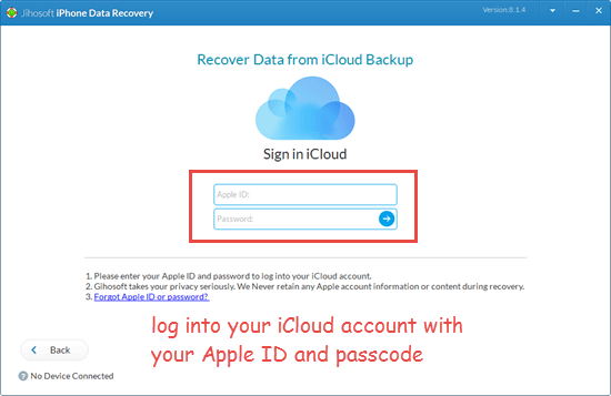 Extract deleted iMessages from iCloud backup selectively
