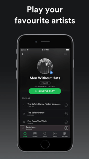 Spotify is beyond doubt one of the most welcome apps to download music on iPhone.