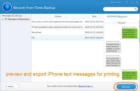 Simple Steps: Export iPhone SMS Messages to PC for Printing.