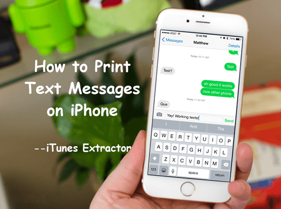Print out Text Messages from iPhone.