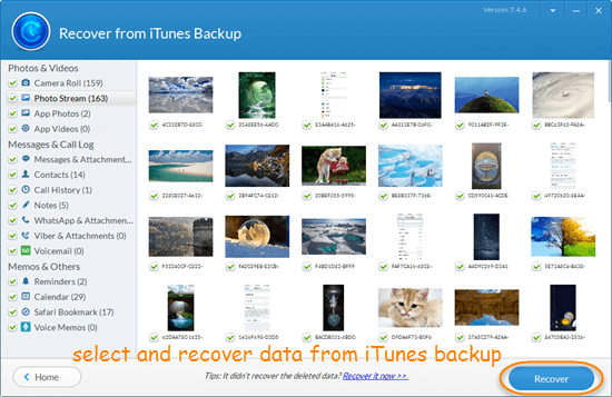Retrieve iPhone Data from iTunes Backup