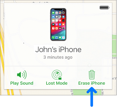 Erase your device with iCloud.