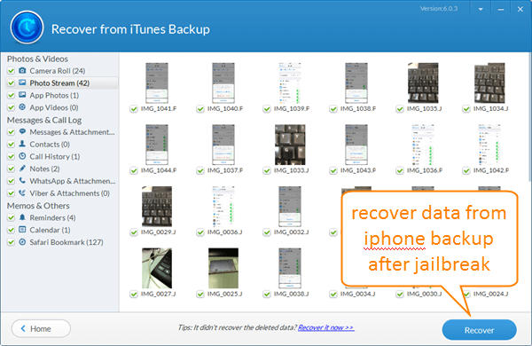 Selectively Recover Data from iPhone Backup.