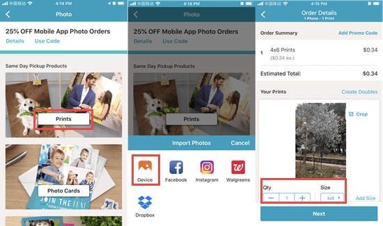 Print iPhone Pictures with Third-party Photo Printer Apps