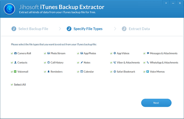 Scan for the Files You Want to Extract